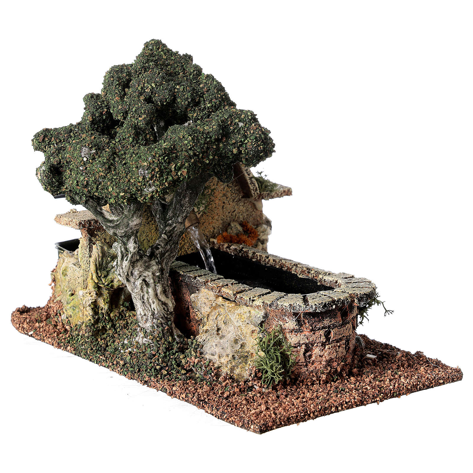 Electric fountain with tree 15x10x20 cm for Nativity Scene with 8-10 cm figurines 4