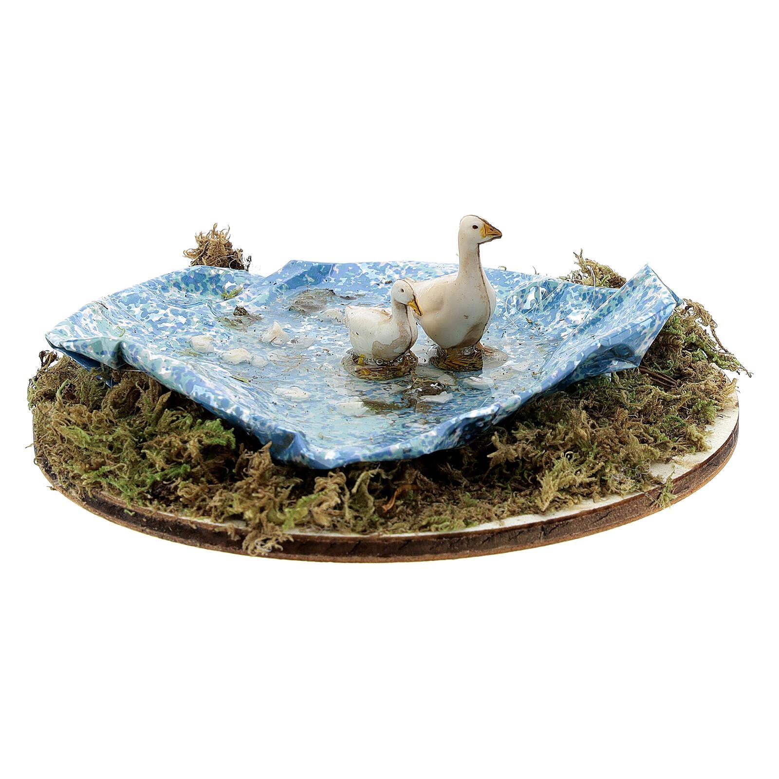 Teich kreisförmig mit Gänsen, 8-14 cm 4