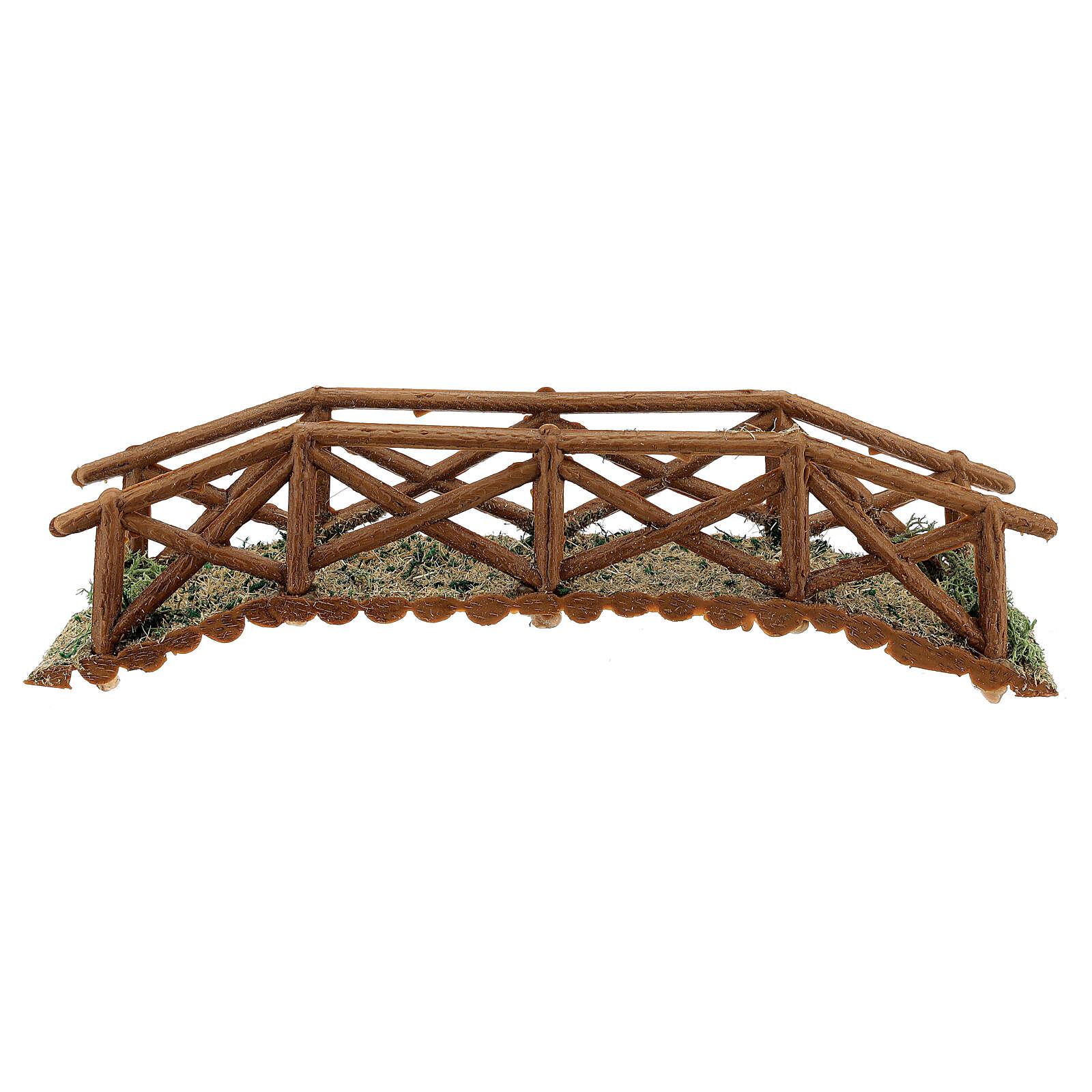 Brücke aus Holt für Krippe, 5x25x5 cm 4