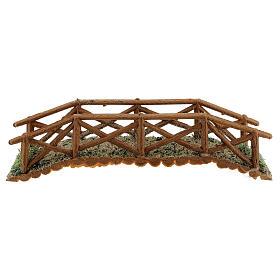 Brücke aus Holt für Krippe, 5x25x5 cm s1