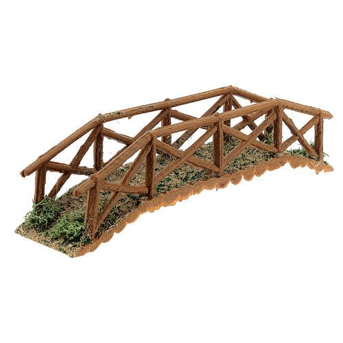 Brücke aus Holt für Krippe, 5x25x5 cm 2