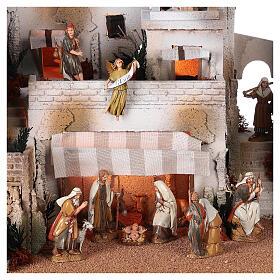 Pueblo belén árabe completo estatuas Moranduzzo 10 cm fuente 40x70x50 cm s2
