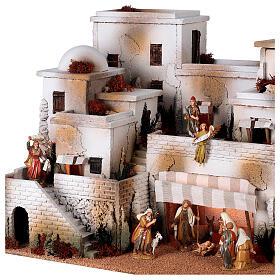 Pueblo belén árabe completo estatuas Moranduzzo 10 cm fuente 40x70x50 cm s4