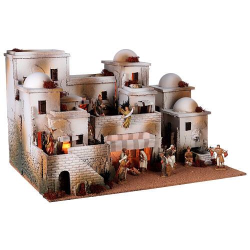 Pueblo belén árabe completo estatuas Moranduzzo 10 cm fuente 40x70x50 cm 5