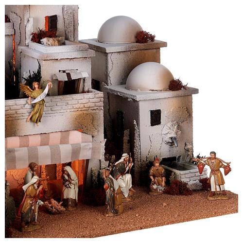 Pueblo belén árabe completo estatuas Moranduzzo 10 cm fuente 40x70x50 cm 6