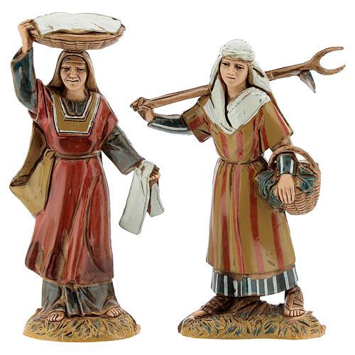 Pueblo belén árabe completo estatuas Moranduzzo 10 cm fuente 40x70x50 cm 11