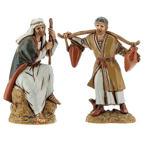 Pueblo belén árabe completo estatuas Moranduzzo 10 cm fuente 40x70x50 cm 13