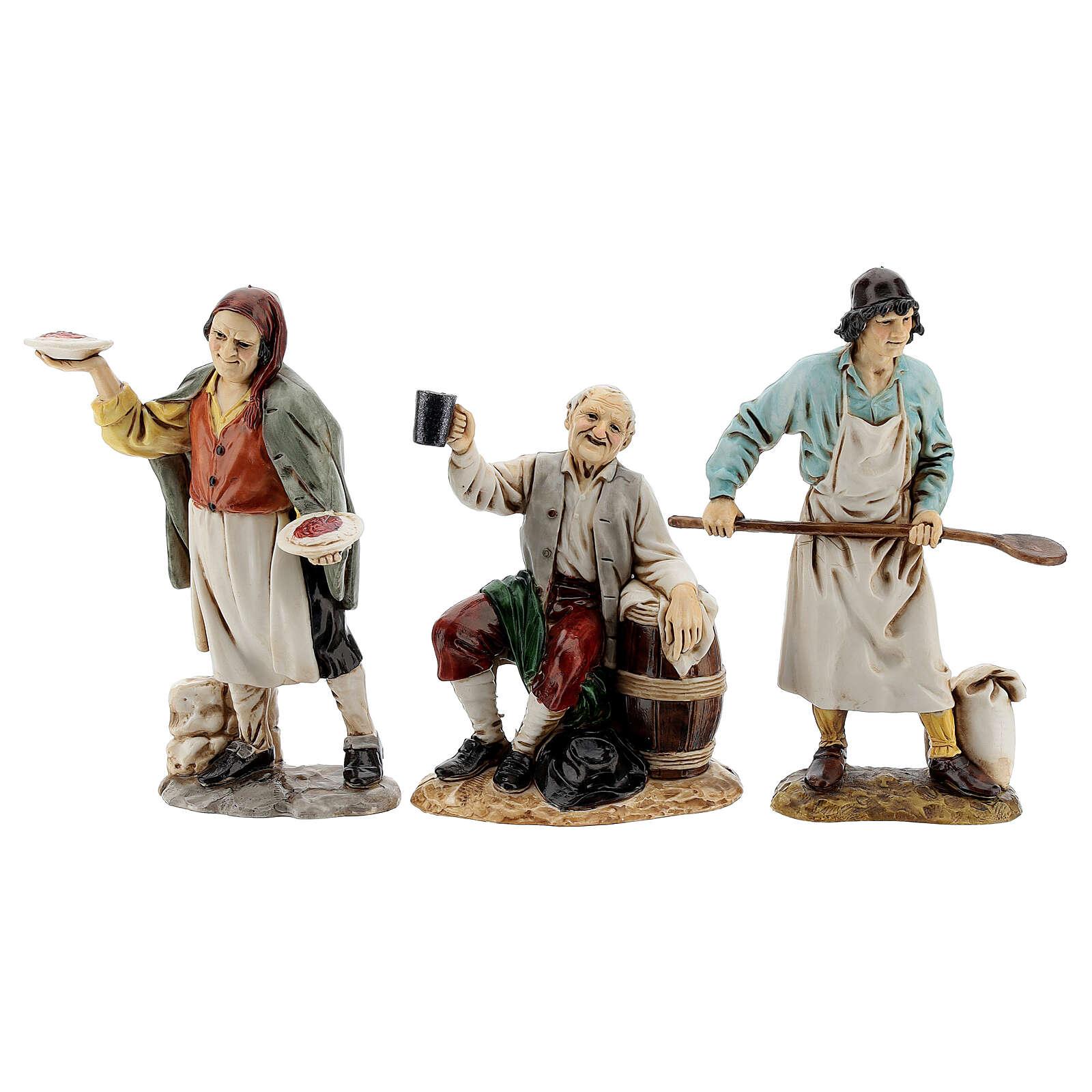 Krippendorf vollständig mit Figuren Moranduzzo, 35x100x45 cm 4