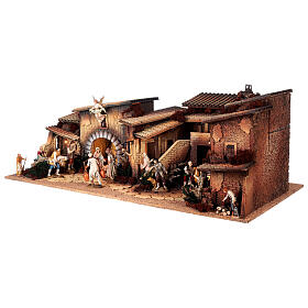 Krippendorf vollständig mit Figuren Moranduzzo, 35x100x45 cm s3