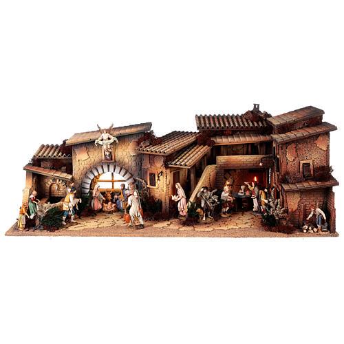 Krippendorf vollständig mit Figuren Moranduzzo, 35x100x45 cm 1