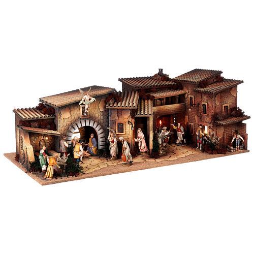 Krippendorf vollständig mit Figuren Moranduzzo, 35x100x45 cm 5