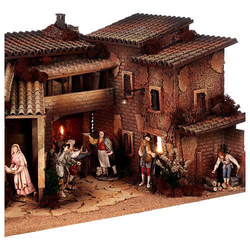 Krippendorf vollständig mit Figuren Moranduzzo, 35x100x45 cm 7