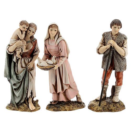 Krippendorf vollständig mit Figuren Moranduzzo, 35x100x45 cm 12