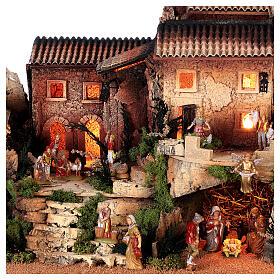 Dorfkrippe vollständig mit Kirche Moranduzzo, 50x70x45 cm s4