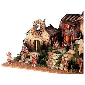 Dorfkrippe vollständig mit Kirche Moranduzzo, 50x70x45 cm s5