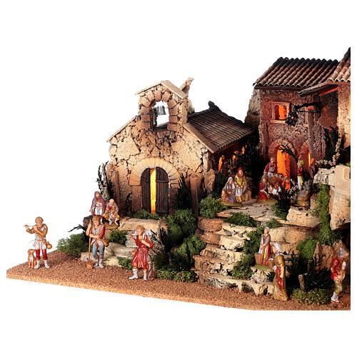 Dorfkrippe vollständig mit Kirche Moranduzzo, 50x70x45 cm 5