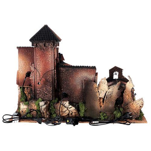 Dorfkrippe vollständig mit Kirche Moranduzzo, 50x70x45 cm 18