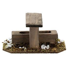 Fontana finta presepe 14-16 cm legno 10x10x5 cm s4