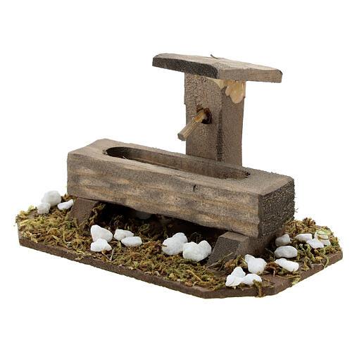 Fontana finta presepe 14-16 cm legno 10x10x5 cm 2