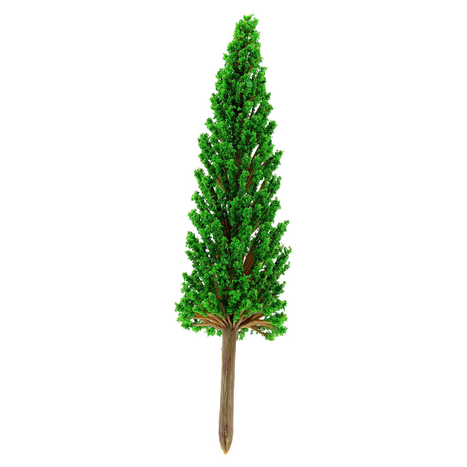 Cypress tree in plastic Moranduzzo for 6-10 cm Nativity scene 4