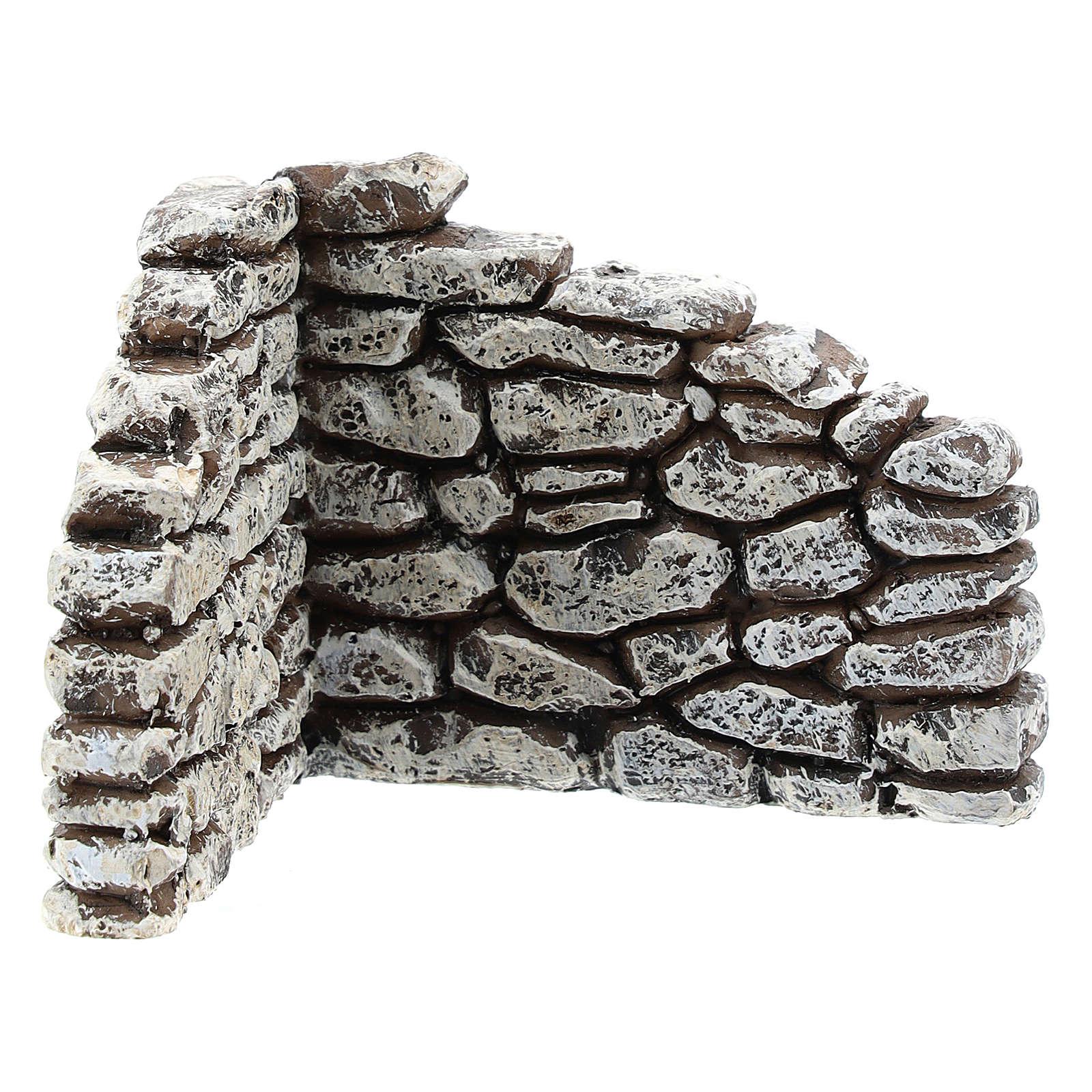 Muretto angolare Moranduzzo per presepe 4 cm 4