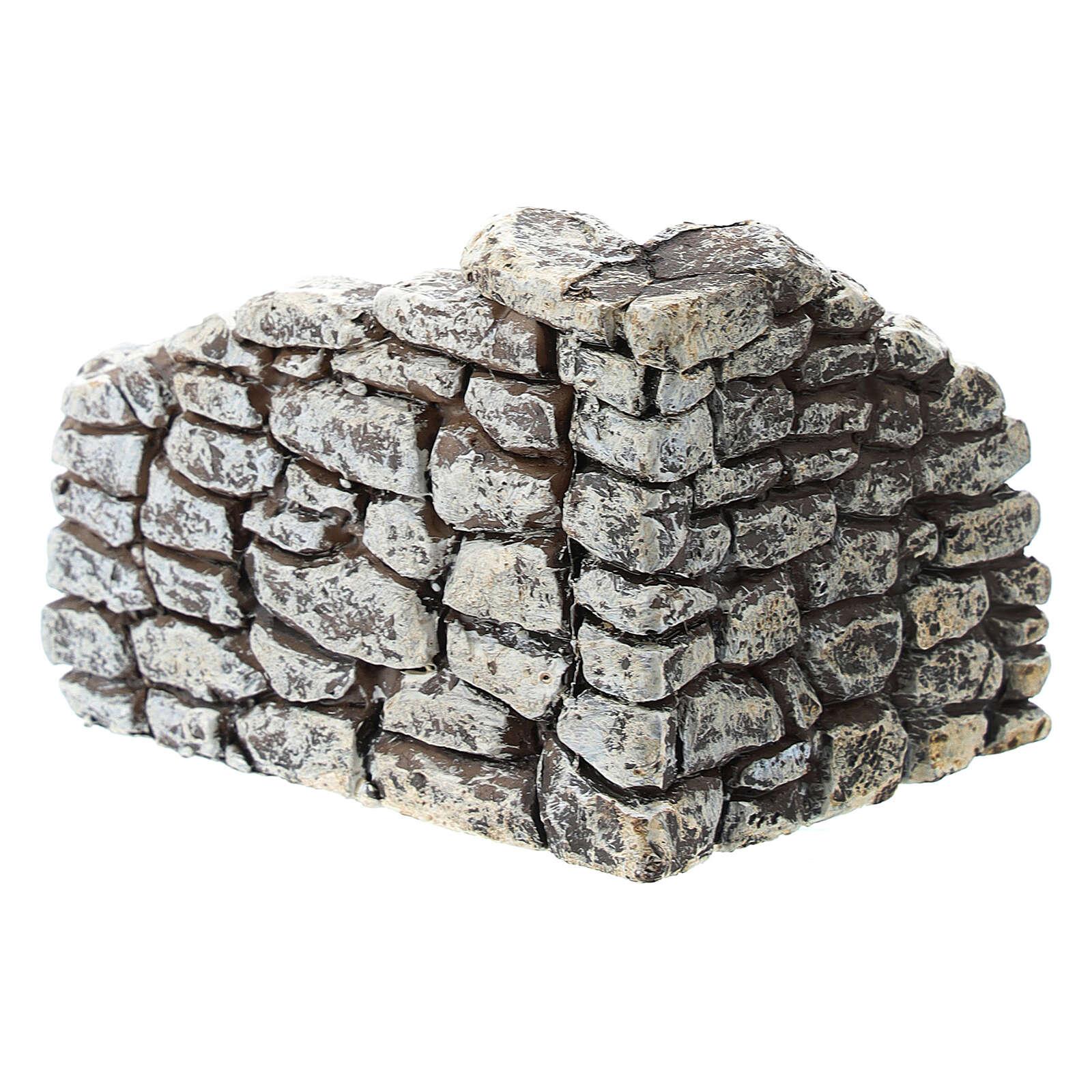Miniature stone wall angle, for 4 cm Moranduzzo nativity 4