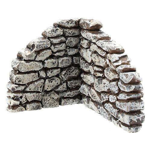 Miniature stone wall angle, for 4 cm Moranduzzo nativity 2