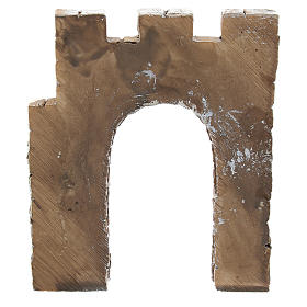 Nativity scene setting, wall with archway Moranduzzo in resin for 4 cm statues s4