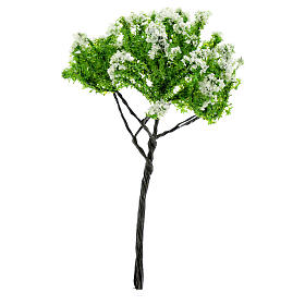 Nativity scene setting, flowering apple tree Moranduzzo in iron for 6-10 cm statues s1