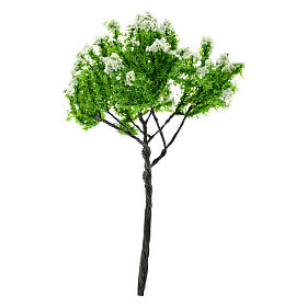 Nativity scene setting, flowering apple tree Moranduzzo in iron for 6-10 cm statues s2