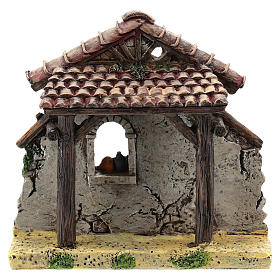 Nativity scene setting, house fornt ruin Moranduzzo in resin for 4-6 cm statues s1