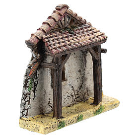 Nativity scene setting, house fornt ruin Moranduzzo in resin for 4-6 cm statues s3