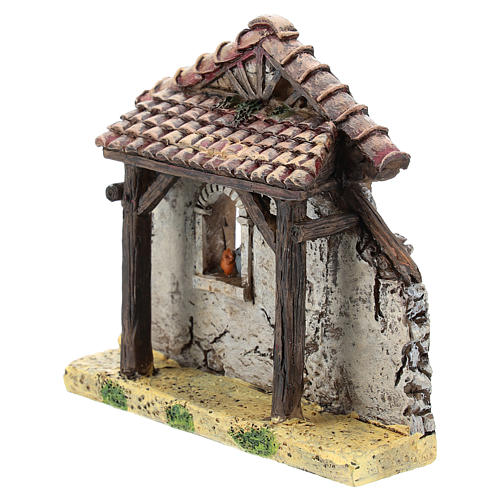 Nativity scene setting, house fornt ruin Moranduzzo in resin for 4-6 cm statues 2