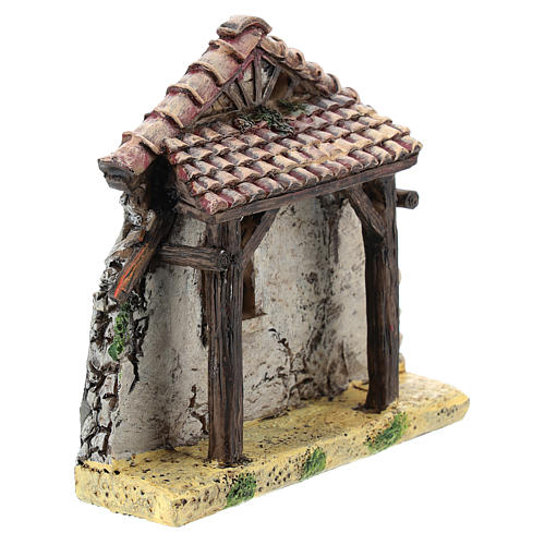 Nativity scene setting, house fornt ruin Moranduzzo in resin for 4-6 cm statues 3
