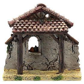 Miniature house facade, for 4-6 cm Moranduzzo nativity resin s1