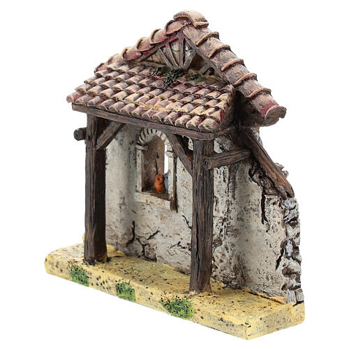 Miniature house facade, for 4-6 cm Moranduzzo nativity resin 2
