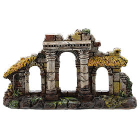 Entrée trois arches colonnes résine Moranduzzo crèche 4-6 cm s1