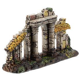 Entrée trois arches colonnes résine Moranduzzo crèche 4-6 cm s3