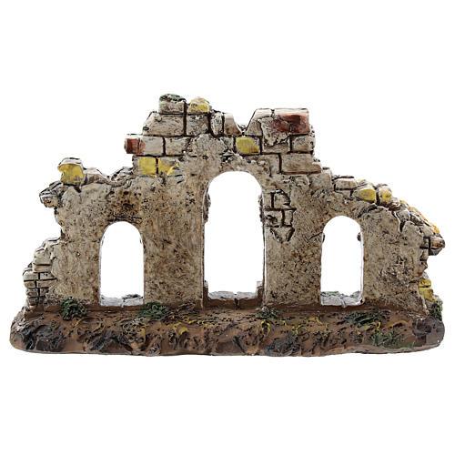 Entrée trois arches colonnes résine Moranduzzo crèche 4-6 cm 4