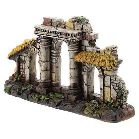 Ingresso tre archi colonne resina Moranduzzo presepe 4-6 cm s2