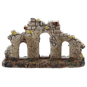 Ingresso tre archi colonne resina Moranduzzo presepe 4-6 cm s4