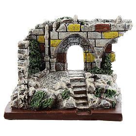 Nativity scene setting, archway ruins Moranduzzo in resin for 4-6 cm statues s1