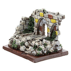 Nativity scene setting, archway ruins Moranduzzo in resin for 4-6 cm statues s2