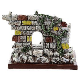 Nativity scene setting, archway ruins Moranduzzo in resin for 4-6 cm statues s4