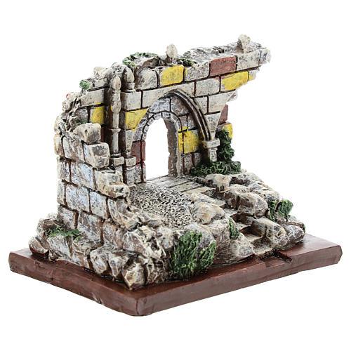 Nativity scene setting, archway ruins Moranduzzo in resin for 4-6 cm statues 3