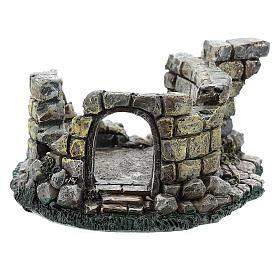 Nativity scene setting, castle ruins Moranduzzo in resin for 4-6 cm statues s4