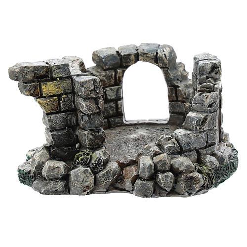 Nativity scene setting, castle ruins Moranduzzo in resin for 4-6 cm statues 1