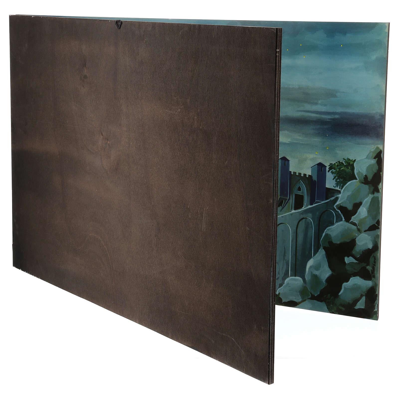 STOCK Dittico fondale paesaggio per Presepe 70x200 cm 4