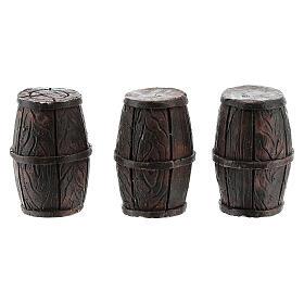 Set 3 barriles 3x2 cm para belenes de 8 cm s1