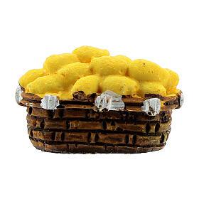 Miniature potato basket 2x3 cm, for 10 cm nativity s1